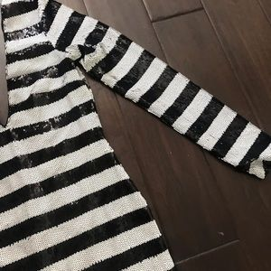 Nasty Gal Dresses - NWT B&W Sequin Nasty Gal Dress
